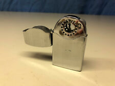 Old Vtg ZENITH Windproof Cigarette Pipe Brier Lighter With Initial Plate Japan