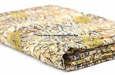 Indian Vintage Kantha Patchwork Washable Quilt Reversible Cotton Bedding Gudari