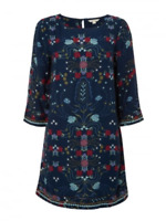 New Ex White Stuff Everbloom Floral Tunic in Flattering Blue Was £59.95 Now £20