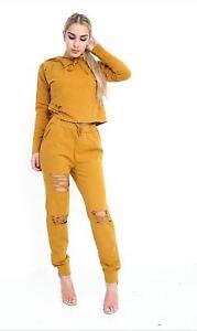 Ladies 2 Piece  Loungewear  Women's Tracksuit Set Bottoms Top
