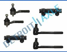 New 6pc Inner and Outer Tie Rod End Links + Adjusting Sleeves for Blazer - 4x4
