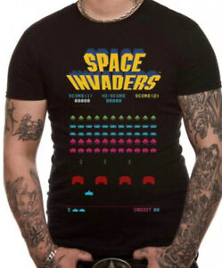 SPACE INVADERS RETRO OFFICIAL MERCHANDISE T SHIRT