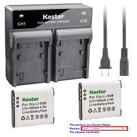 Kastar Battery Rapid Charger for Olympus Li-50B LI-50C & Stylus 9000 Stylus 9010