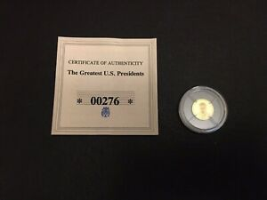 2009 Proof JFK 14ct Miniature Gold Coin 11mm with COA