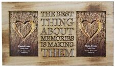 4 X 6 Rustic Double Worded Wooden Memories Photo Picture Frame