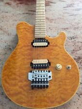 Sterling by Music Man AX40D AX40 EVH guitar Dimarzio Equipped, COOL GOLD QUILT