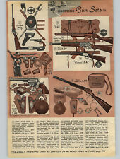 1962 PAPER AD Gun Marx Holster Civil War Cheyenne Saddle Daisy Mattel Winchester