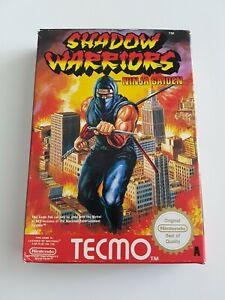 Ninja Gaiden Shadow Warriors - Nintendo NES Game [PAL A UKV] CIB boxed/manual