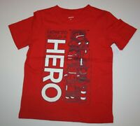 New Carter's Boys Top 5T Red How To Build A HERO Fireman Graphic Tee