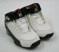 Fila Toddler Boys White Black High Top Sneakers Shoes Size 6M