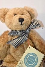 Boyds Bears: Barnaby B Bean - 515003 - 9 inch Plush Bear - Plad Bow