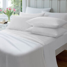 Jenny McLean 100 Egyptian Cotton 175gsm Flannelette Sheet Set All Sizes Queen White