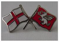 St George and English White Dragon England crossed flag enamel pin badge