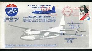 Netherlands 1980 Fokker F27 25th Anniversary - Signed Flight Cover