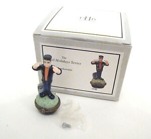 Midwest of Cannon Falls Porcelain Hinged Box Frankenstein Monster with bolt PHB