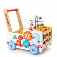 Baby Laufwagen Lauflernwagen Baby Walker Gehfrei Lauflernhilfe Steckspiel Holz