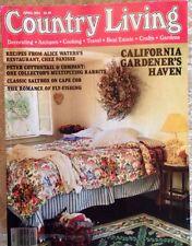 COUNTRY LIVING MAGAZINE~APRIL 1994~VINTAGE~CALIFORNIA GARDEN HAVEN~