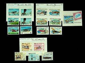 CAMBODIA ANTIQUE AVIATION FAMOUS PEOPLE 19v MNH STAMPS CV $17.50