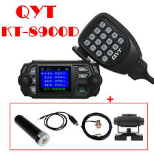 QYT KT-8900D Car Truck Mobile Radio+50W Antenna+Mount+PL259 Cable+Program Cable
