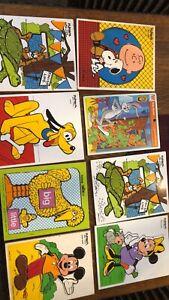 8- vintage Playskool puzzles- 1950 Forward