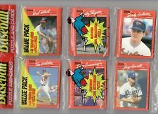 Two 1990 DONRUSS Baseball Rack Packs w/ TIM BELCHER on the top (96) Cards