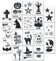 Halloween Stencils Craft Painting Stencils Airbrush Spray Paint (18 Designs)