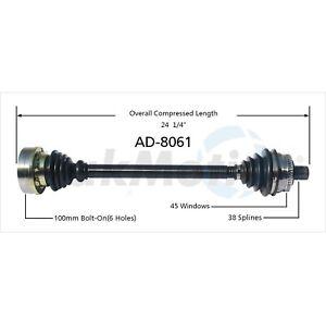 For Audi A4 Quattro 96-01 Front Driver Left CV Axle Shaft Surtrak 8D0407451EX