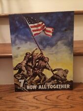 "New Tin Sign - War Bonds, Iwo Jima - L - 12 1/2"", H - 16"""