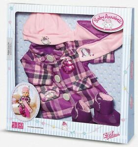 Baby Annabell Deluxe Coat Set Fits 39-43cm Doll Clothes Outfit New Xmas Gift 3+