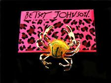 Enamel Crab Glamour women Brooch Pin Fashion charm Betsey Johnson cute crystal