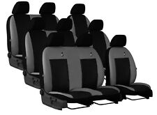 FORD TRANSIT CUSTOM DOUBLE CAB 2013-2017 6SEAT ECO LEATHER  TAILORED SEAT COVERS