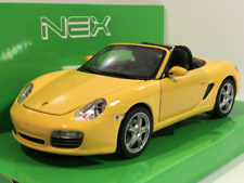 Porsche Boxster Cabrio S Yellow 1:24 Scale Welly 22479Y