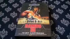 Sega Genesis Rambo 3 16bit TESTED&WORKING WITH CASE! 1989 RARE HTF AUTHENTIC
