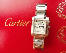 Cartier Tank française chronoflex elegante acero lujo chronograph ref.2303