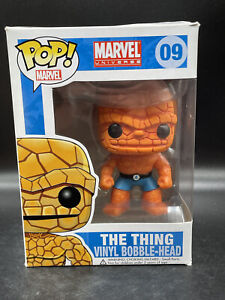 Funko Pop!  Marvel The Thing #09 - Fantastic 4 Original Vaulted W/ Hard Stack