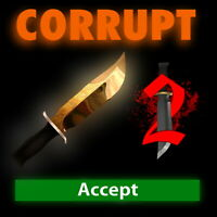 MM2 Godly CORRUPT Knife Most Wanted Roblox Murder Mystery 2 - get it fast