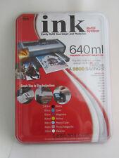 IMS Ink Refill System Kit 480 ml Inkjet Printer & Photo Cartridge Ink Refill New