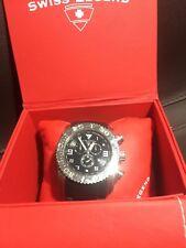 Swiss Legend Men's Commander Black Dial Black Rubber Wristwatch 316L Chronog