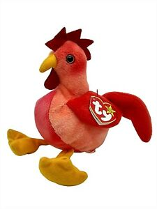 Ty Beanie Baby Strut The Rooster Red Collectible Retired Plush Vintage New