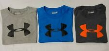 Lot of 3 Under Armour Boys Heat Gear Short Sleeve Shirts -  Size 5/6 - NEW NWOT