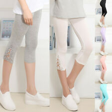 Ladies Women's Summer Slim Sexy Lace Skinny Stretch Trousers Leggings Pants kk
