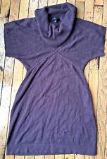 Nine West Sweater Dress Size Medium Burgundy Short Sleeve Tunic bx21
