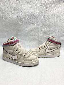 Nike Girls Vandal High Supreme PS Desert Sand/White/Pink AH5252-004 Size 6Y