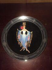 Royal Doulton House of Erte Twilight Franklin Mint Plate W/Coa