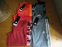 Adidas Climalite Womens Gym Running 3/4 Bottoms Leggings XS M L XL BNWT FREEPOST