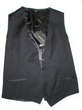 New NWT Mens 38 Vest Designer Italy Dolce & Gabbana Wool Silk Black 48 Nice