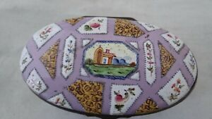 Rare Antique 18TH C Battersea Bilston Pink Enamel Pill Snuff Box  & Provenance