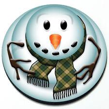 Snowman - MINI Cooper Winter Christmas Cute Seasonal Magnet Grill Grille Badge