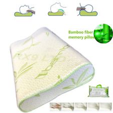 Luxury Contour Memory Foam Pillow Bamboo Orthopedic For Neck Head Back Support