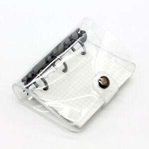 Kawaii Mini 3 Holes Binder Notebook Clear Cover Planner Journal Budget Book AAA